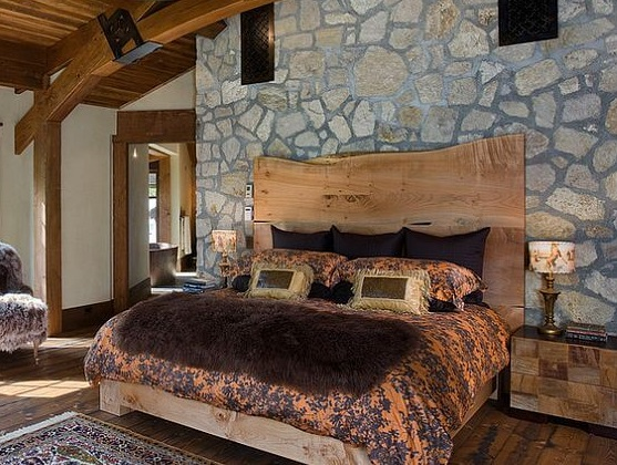 8 Easy Rustic King-Size Homemade Wooden Headboard Ideas ...