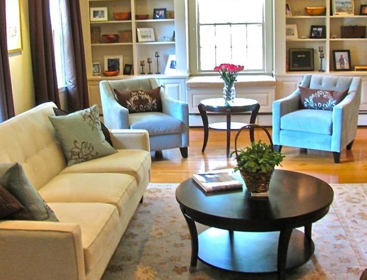 Living room area rug interior design ideas for Living room area rugs ideas