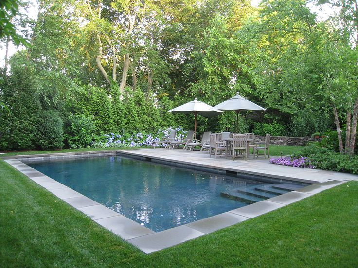 inground pool landscaping ideas with natural elements